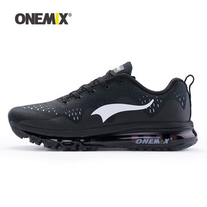 ONEMIX 2017 NEW Arrive Men Running Shoes Black White Man Jogging Sport Sneakers for Outdoor Walking Shoe Run Comfortable