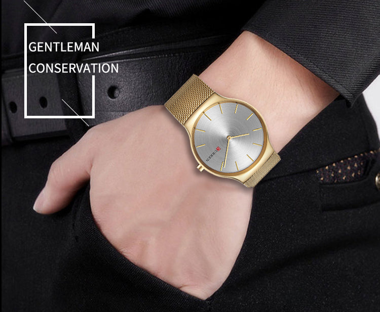 Gold Pointer Wristwatch