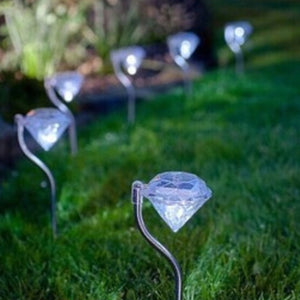 Diamond Stainless steel Solar lawn light