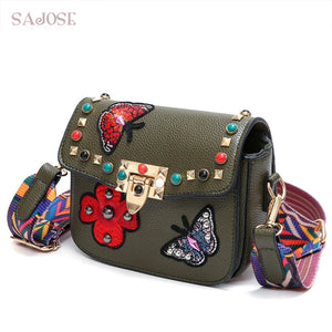 Small Flowers Designer Leather Bags