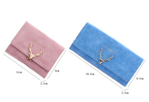 Long designer reindeer wallet