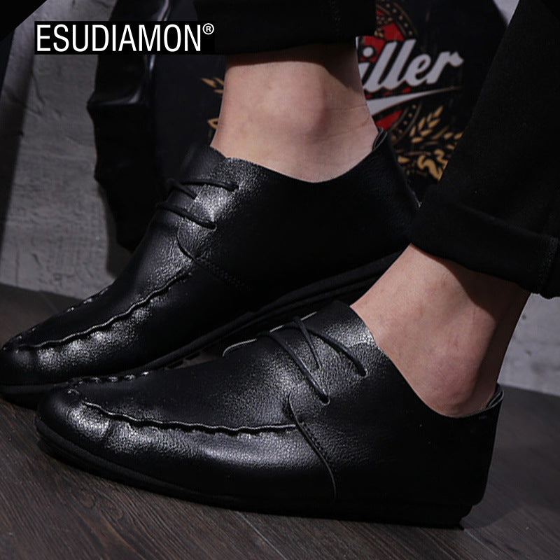 Pedal Breathable Leather Shoes