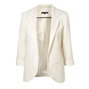 Open Front Slim Fit Blazer