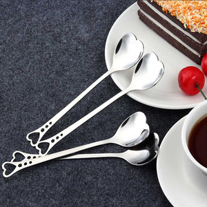 Heart Shape Stainless Steel Spoon