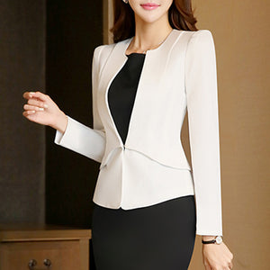 V-Neck Long Sleeve Blazer