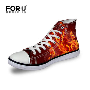 Fire Punk Skull Lace-up Vulcanize Shoes
