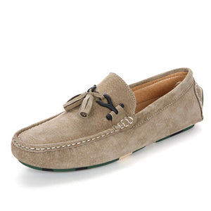 Suede Tassel Leather Loafers