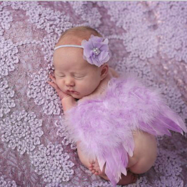 Feather Lace Headband & Angel Wings