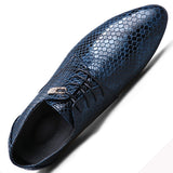 Snake Leather Lace Up Shoes