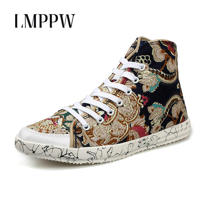 Fashion Breathable High Top Canvas Shoes