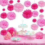 Pink Pom Pom Tissue decoration