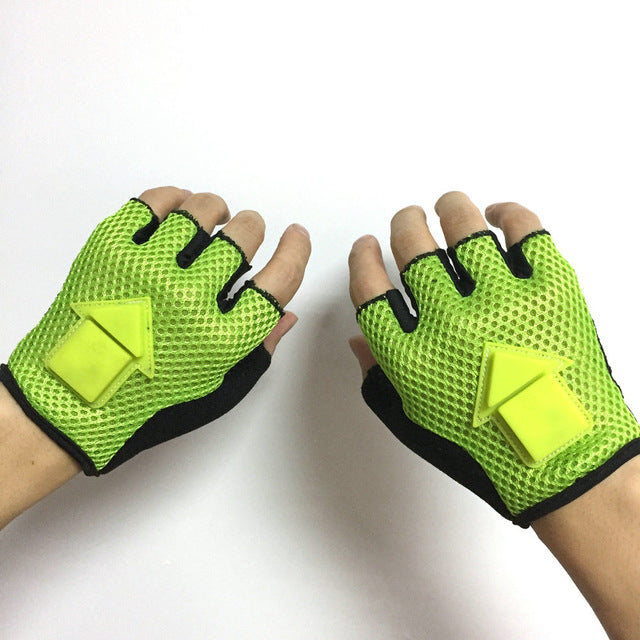 Half Finger Cycling LED Light  Gloves