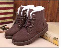 Warm Lace Up Snow Boots