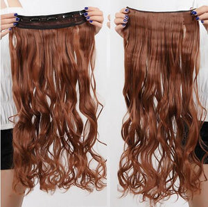 Curly Thick Hairpiece clip in Hair Extensions