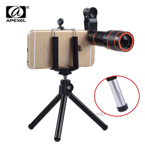 12X Zoom Mobile Phone Lens with Tripod
