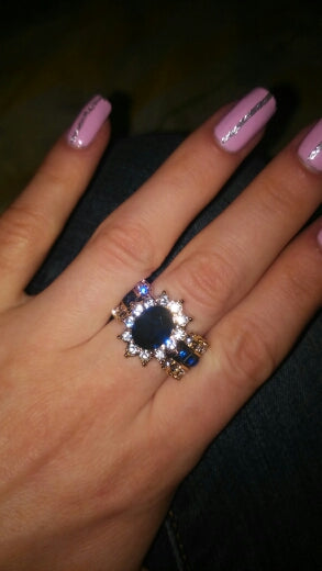 Blue Zircon Promise Ring