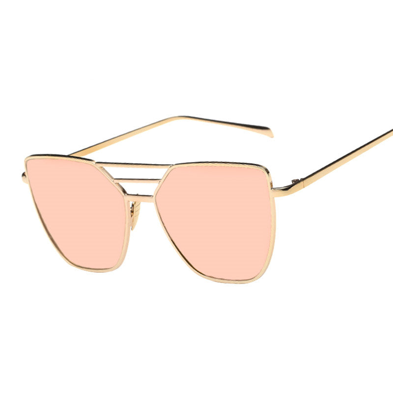 Mirror Vintage Retro Cat Eye Sunglasses