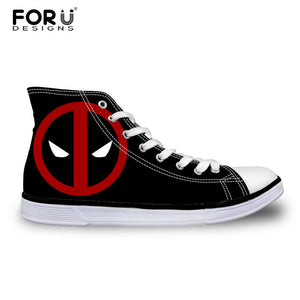 Super Hero Skull Canvas Shoes