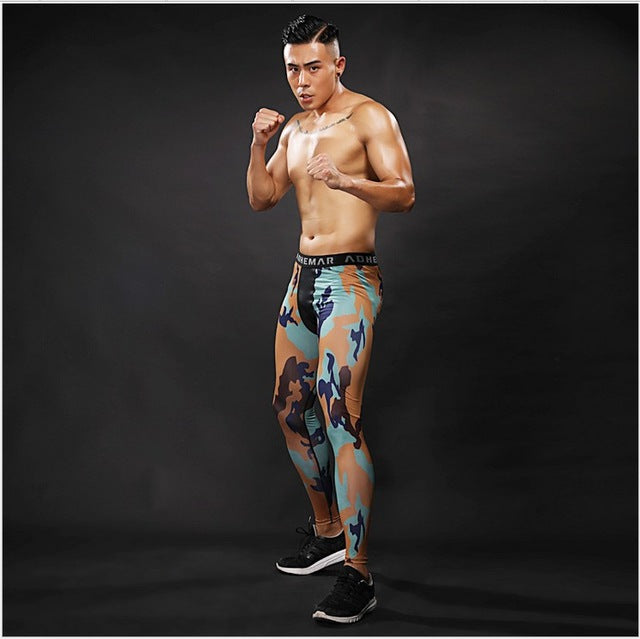 Pattern Compression Tights Pants