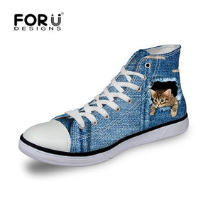 3D Spiderweb Printed Canvas Shoes