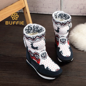Christmas Deer Buckle boots