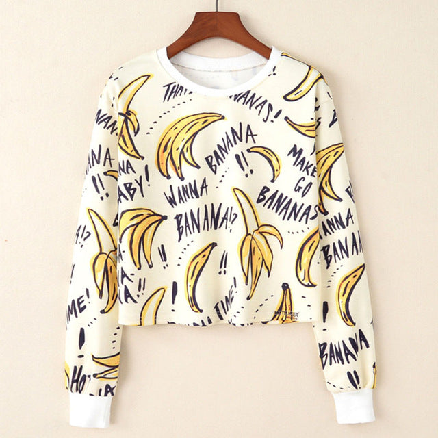 Printed short Sweatshirt