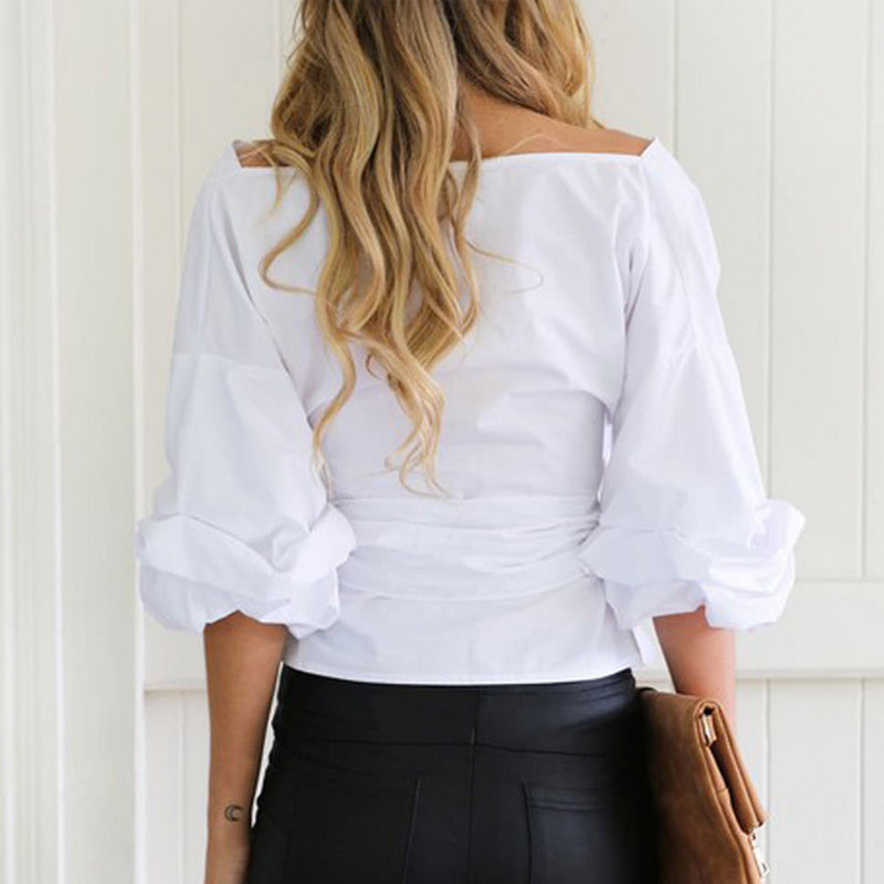 Sexy Off Shoulder Long Sleeve Top