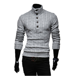 High Collar Men Sweater