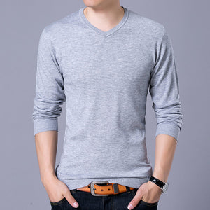 V-neck Cashmere Wool Sweater