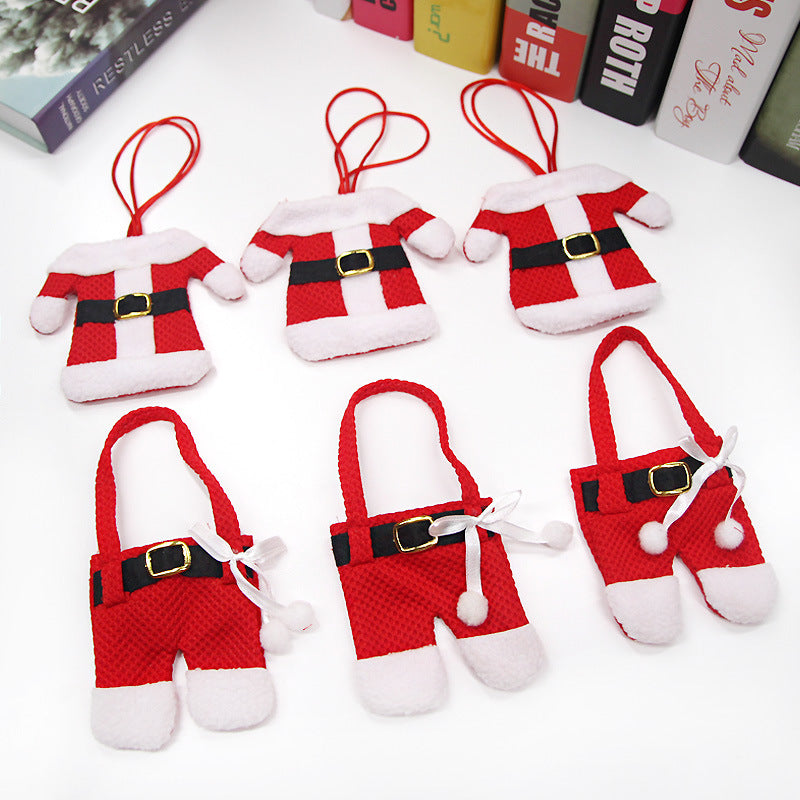Santa Claus silverware holder