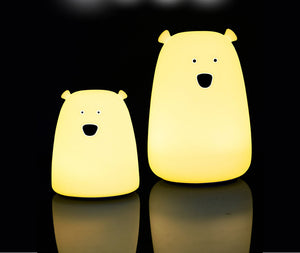 Colorful Bear Silicone LED Night Light