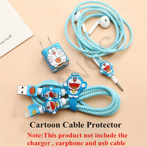 Cartoon Cute Earphone USB Cable Winder Wire Organizer