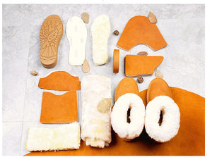 Cowhide snow boots