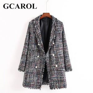 Winter Pearl Buttons Long Blazer