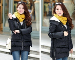 Thickening Cotton Hooded Winter Coat