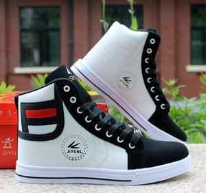 High Top Round Toe Shoes