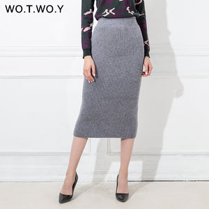 Woolen Long Skirt