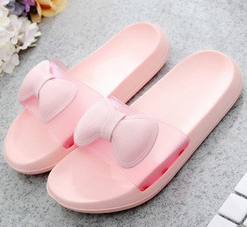 Flat anti-skid bath slippers