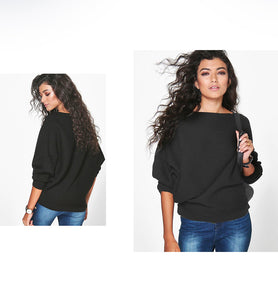 Long Batwing Sleeve Sweater