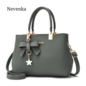 Bow Star Pendant Women Leather Bag