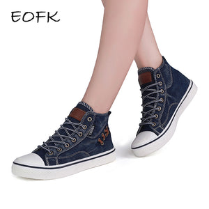 Denim Ankle Lace Up sneakers