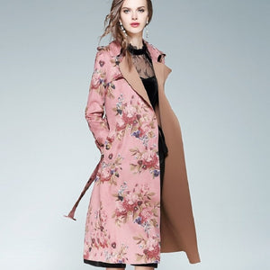 Vintage Long sleeve Print overcoat