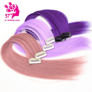 10pcs/lot Clip-in  Ombre Hair Extensions