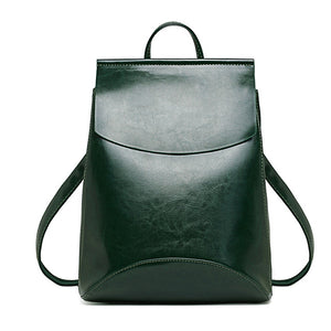 Youth Vintage Leather Backpack