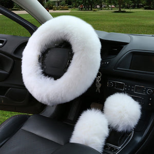 Australian Wool Heated Fur  Wheel Cover