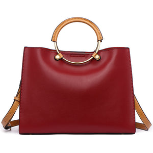 Luxury messenger Leather bag