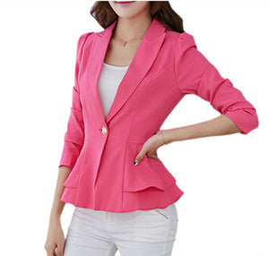 Lapel Single Button Blazers