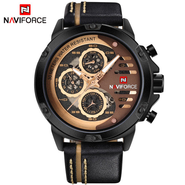 Leather Sport Wrist Watch