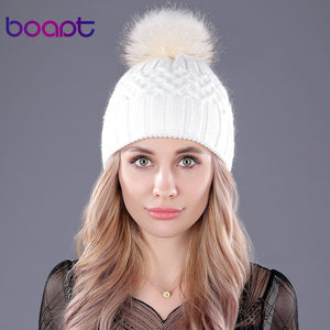 Pearl Natural Fur Hats