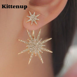 Double Star Snowflake Earrings
